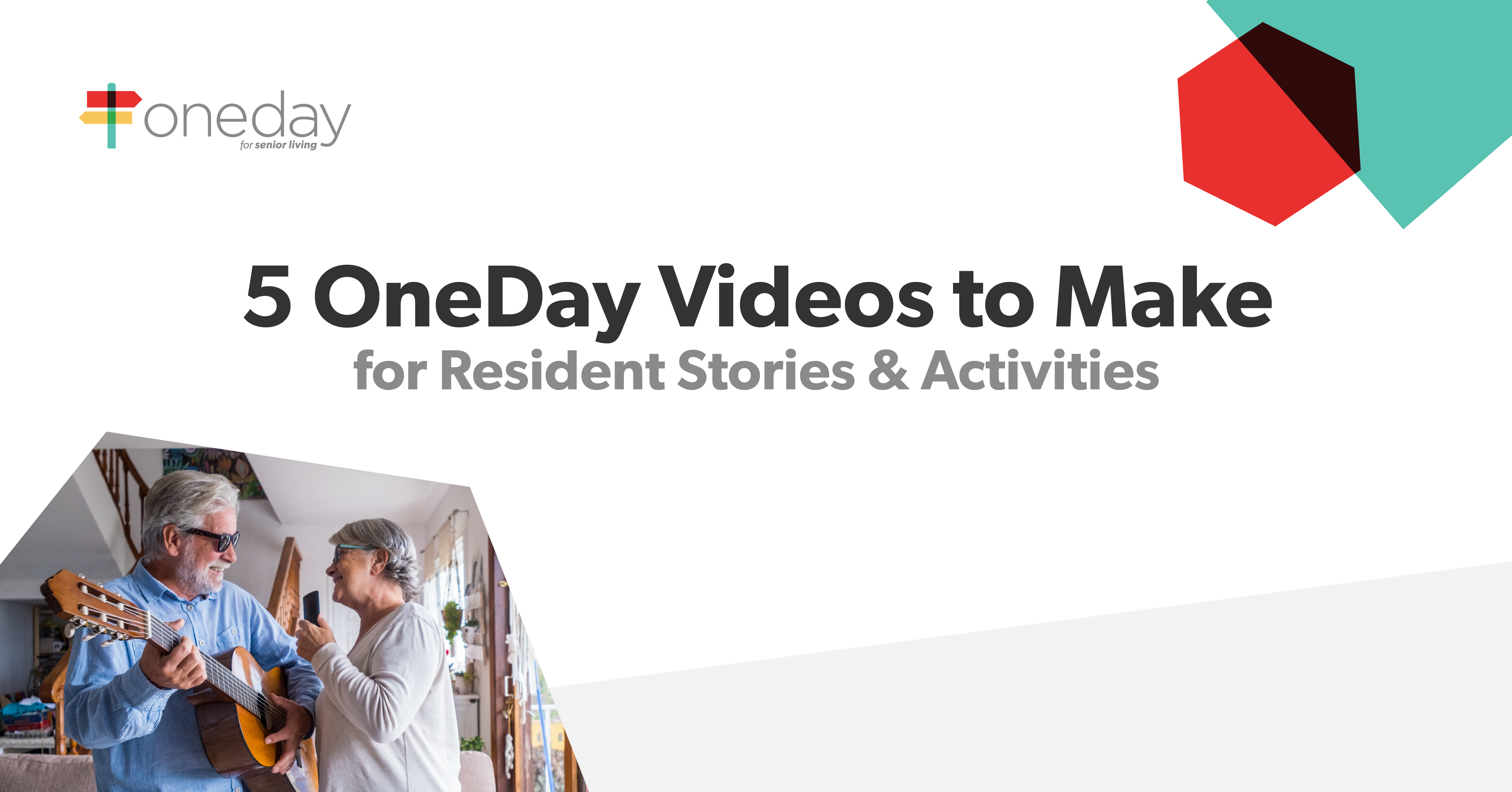 A look at five simple yet powerful instances where OneDay Resident Story videos will benefit your senior living community's residents and their loved ones.